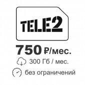 Интернет 300 Гбайт в месяц от ТЕЛЕ2 750 р/мес